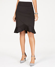 Thalia Sodi Tulip-Hem Scuba Skirt, Created for Macy's