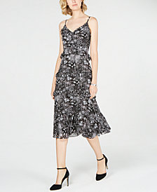 MICHAEL Michael Kors Ruffled Midi Slip Dress