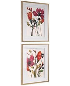 Vivid Arrangement Floral Prints Set of 2