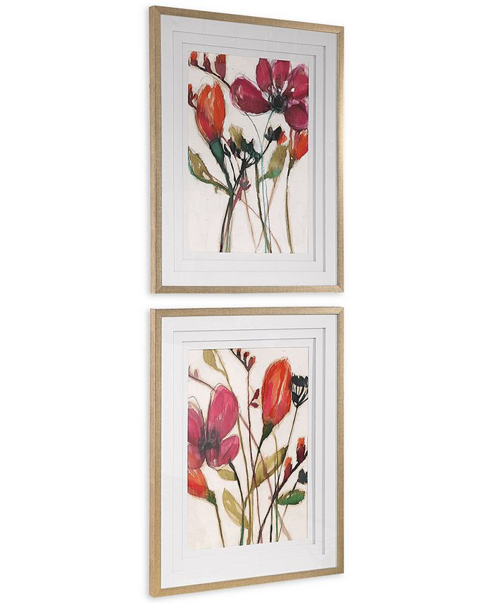 Uttermost - Vivid Arrangement Floral Prints Set of 2
