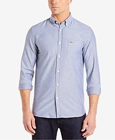Men's Regular Fit Long Sleeve Button Down Solid Oxford Shirt