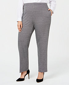 Alfred Dunner Plus Size Pull-On Pants, Short and Reg Inseam