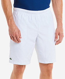 "Lacoste Men's Diamond-Weave 9.25"" Taffeta Shorts"
