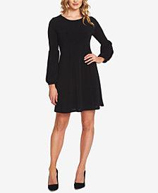 CeCe Puffed-Sleeve A-Line Dress