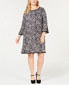 MICHAEL Michael Kors Plus Size Printed A-Line Dress