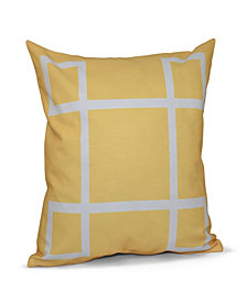 16 Inch Yellow Decorative Geometric Throw Pillow