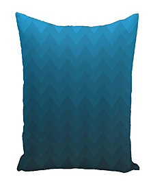 16 Inch Teal Decorative Striped Throw Pillow