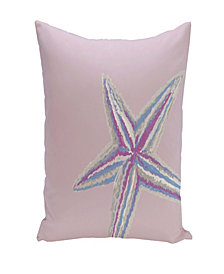 Starfish 16 Inch Light Purple Decorative Coastal Throw Pillow
