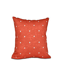 Dorothy Dot 16 Inch Orange Decorative Polka Dot Throw Pillow