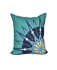 Sailor's Delight 16 Inch Green Decorative Nautical Throw Pillow