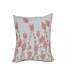 Lavender 16 Inch Coral Decorative Floral Throw Pillow