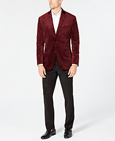 Alfani Velvet Blazer & Pants, Created for Macy's