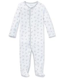 폴로 랄프로렌 남아용 우주복 Polo Ralph Lauren Ralph Lauren Baby Boys & Girls Cotton Coverall,Paper White Multi