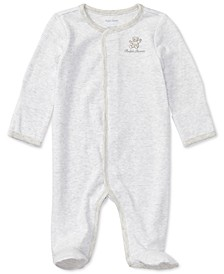 폴로 랄프로렌 아기 우주복 Polo Ralph Lauren Ralph Lauren Baby Boys & Girls Cotton Coverall,Quartz Heather Multi