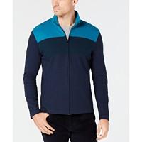 Alfani Mens Colorblocked Full-Zip Jacket