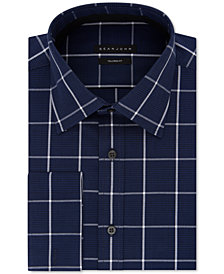Sean John Men's Big and Tall Performance Stretch Check French Cuff Dress Shirt