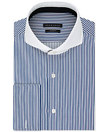 Sean John Men's Big & Tall Classic/Regular Fit Stretch Stripe French Cuff Dress Shirt