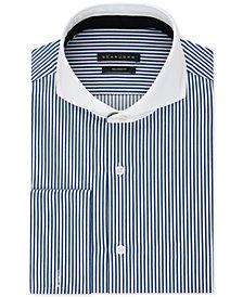Sean John Men's Big & Tall Classic/Regular Fit Stretch Stripe French Cuff Dress Shirt