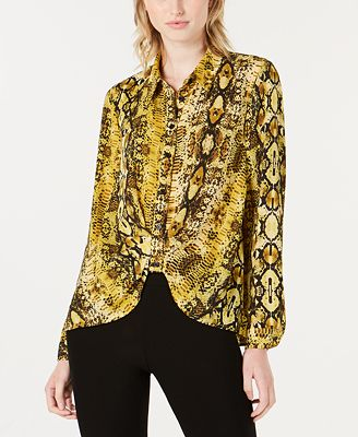 Bar Iii Printed Button Front Shirt Created For Macy S Tops
