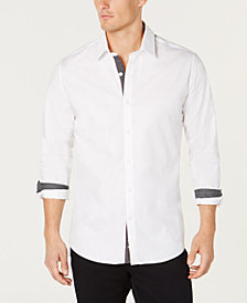 Ryan Seacrest Distinction™ Men's Contrast-Trim Shirt, Created for Macy's