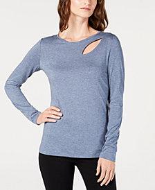 I.N.C. Long-Sleeve Cutout T-Shirt, Created for Macy's