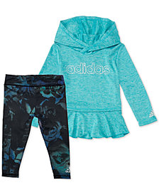 adidas Toddler Girls 2-Pc. Melange Hoodie & Printed Leggings Set