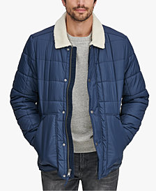 Marc New York Men's Puffer Jacket with Fleece Lining