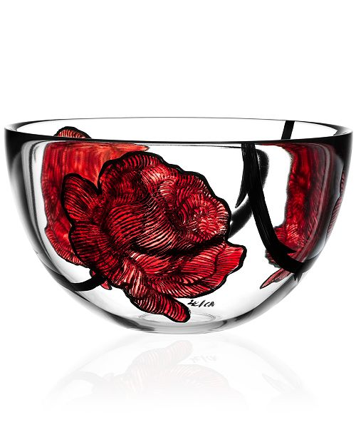 Kosta Boda Tattoo Large Glass Bowl Bowls Vases Macys