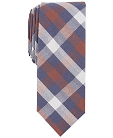 Bar III Men's Merrit Check Skinny Tie, Created for Macy's