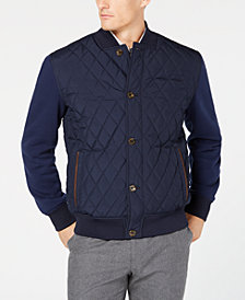 Tasso Elba Men's Quilted Bomber Jacket, Created for Macy's