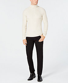 I.N.C. Men's Ribbed Turtleneck Sweater & Stretch Twill Pants, Created for Macy's