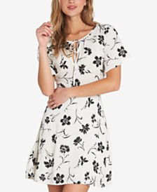 Billabong Juniors' Tomorrow's End Printed Flutter-Sleeved Dress