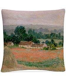 "Monet Haystacks At Giverny 16"" x 16"" Decorative Throw Pillow"