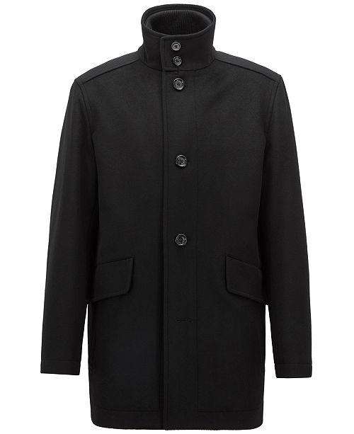 4f390aa08b2 Hugo Boss BOSS Men s Relaxed-Fit Car Coat   Reviews - Coats ...