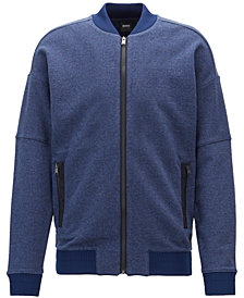 BOSS Men's Full-Zip Cotton Sweatshirt