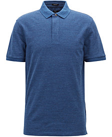 BOSS Men's Denim-Effect Cotton Polo