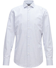 BOSS Men's Slim-Fit Twill Cotton Shirt