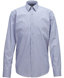 BOSS Men's Regular/Classic-Fit Stretch Shirt