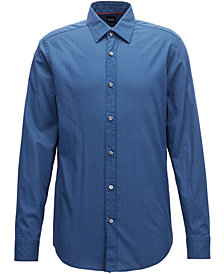 BOSS Men's Regular/Classic-Fit Cotton Shirt
