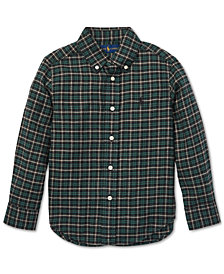 Polo Ralph Lauren Toddler Boys Plaid Cotton Shirt