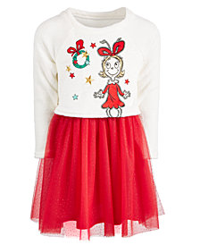 Hybrid Toddler Girls (Size 2T) Cindy-Lou Who Layered-Look Dress