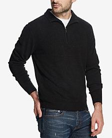 Weatherproof Vintage Men's Soft Touch Textured 1/4-Zip Sweater