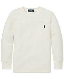 Polo Ralph Lauren Little Boys Waffle-Knit Long-Sleeve T-Shirt