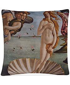 "Sandro Botticelli Birth of Venus 1484 16"" x 16"" Decorative Throw Pillow"