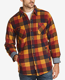 Weatherproof Vintage Men's Plaid Fleece-Lined Shirt Jacket, Created for Macy's