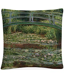 "Claude Monet The Japanese Footbridge 1899 16"" x 16"" Decorative Throw Pillow"