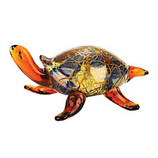 Badash Crystal Firestorm Art Glass Turtle