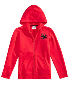 Marvel Big Boys Spiderman Graphic Zip-Up Hoodie