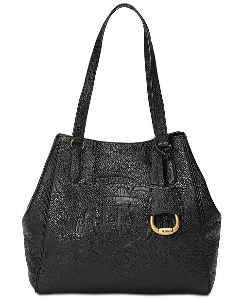 050617020612 Lauren Ralph Lauren Huntley Leather Tote   Reviews - Handbags ...