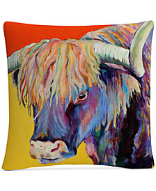 "Pat Saunders-White Scotty 16"" x 16"" Decorative Throw Pillow"